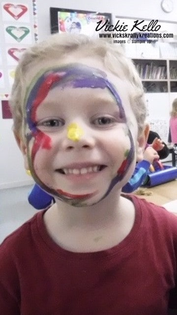 Hunter with face paint