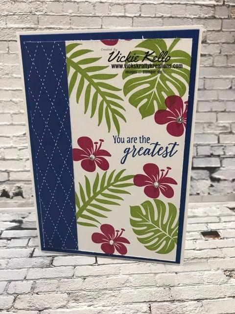 Tropical Chic Colour Challenge Card